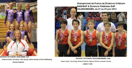 2 podiums aux Championnats de France de Divisions Critrium GAM/GAF &amp; Divisions Fdrales GAF