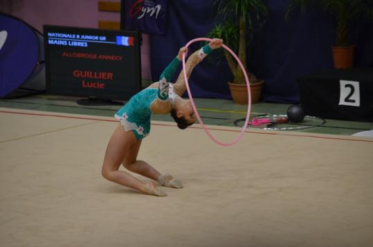 Gymnastique Rythmique_ Belle 9eme place pour Lucie GUILLIER au Championnat de France individuel le 24 janvier 2015 à  Pfastatt en Alsace.
