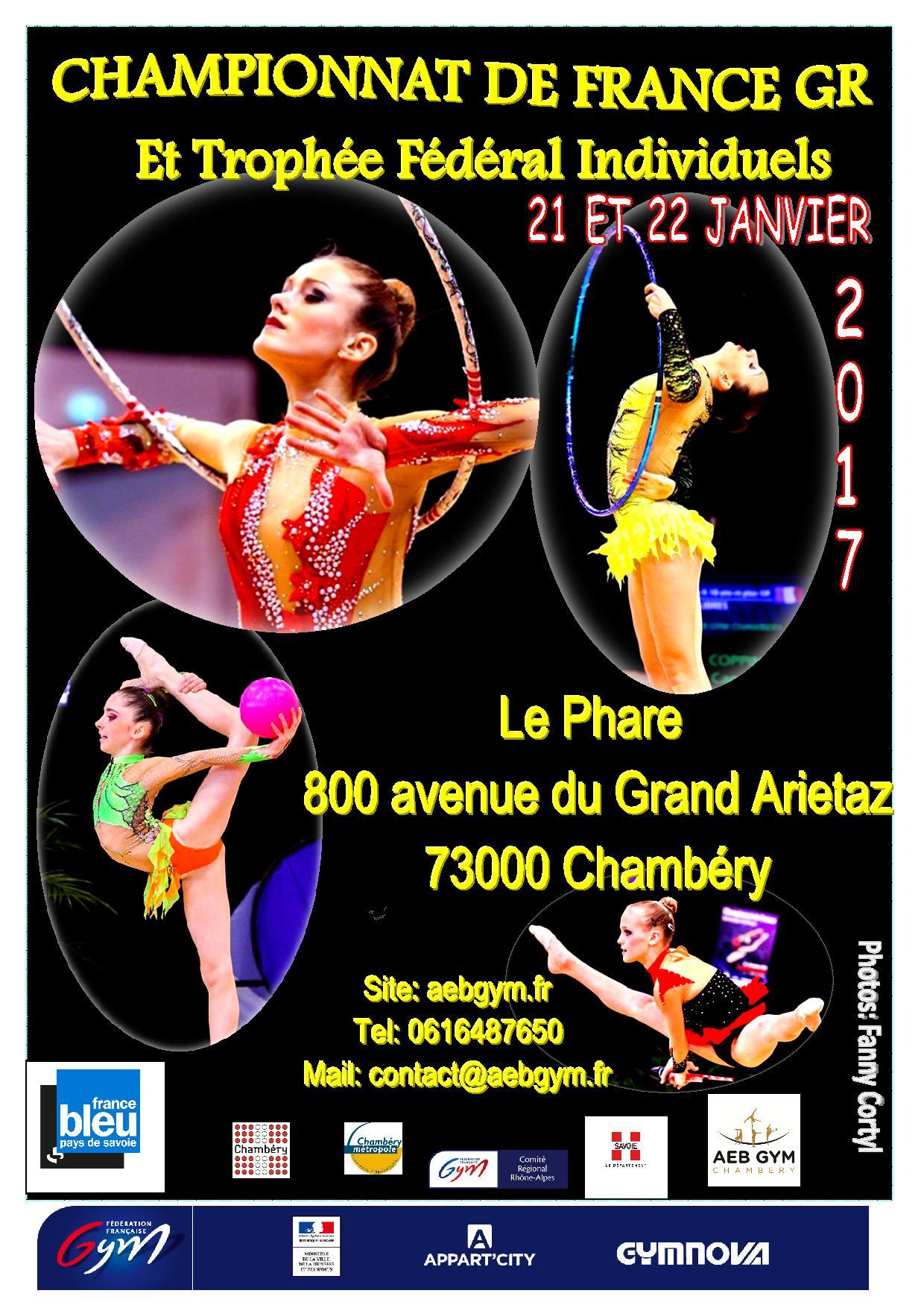 GR - Championnat de France - Chambéry 21 et 22 janvier 2017
