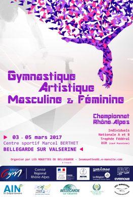 GAF-GAM - Palmarès du championnat individuel Rhône-Alpes Bellegarde 3-5 mars 2017